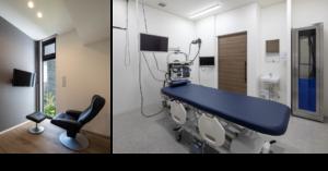 大腸内視鏡前処置室、検査室
